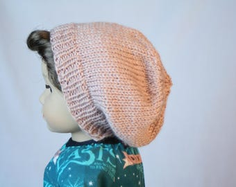 "18"" Boy Doll Hat, made to fit American Boy Doll, Slouch Beanie, 18 inch Doll Clothes, 18"" Doll Hat, Hand Knit Doll Clothes"