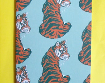 Tiger Pattern Notebook Lined A5