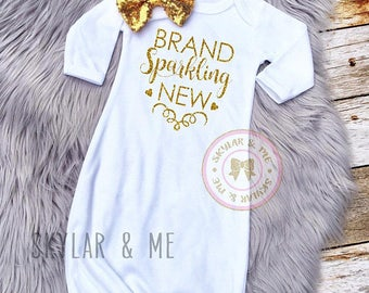 Brand SPARKLING New®, baby Girl Coming Home Outfit, newborn girl coming home outfit, coming home outfit girl, baby girl outfit