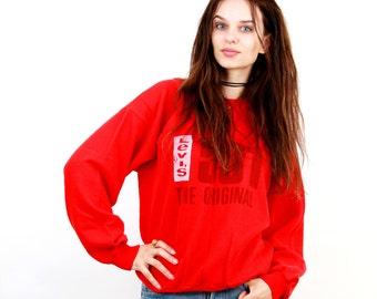 Levi's 501 Steatshirt / Levi's Shirt / Levi's Jumper / Casual Jumper / Hipster Sweater / Levi's Vintage