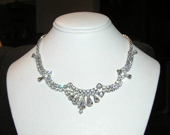 Perfect Wedding Accessories!  Stunning Jeweled RS Necklace and Earrings!
