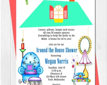 Around the House Bridal Shower Invitation, Pantry Shower Invitation, Bridal Shower Invitation, printable