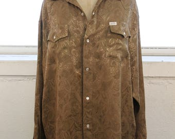 Guess by Georges Marciano Vintage 90's 1990's Grunge Snap Button Down Oversized Printed Long Sleeve Shirt SZ XL