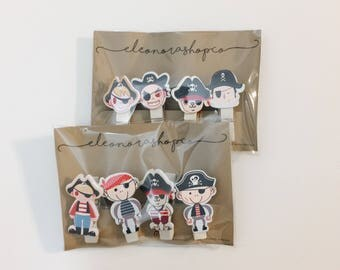 Wooden clothespins to pirate theme | Stationery | Scrapbooking |