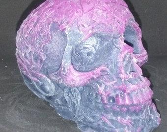 Celtic candle skull purple black