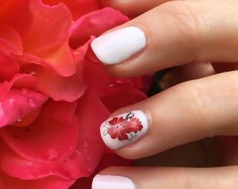 Music notes nail decal design set no1 nailthins nail art red flower hawaiian nail art nail decal nail design nailthins prinsesfo Image collections
