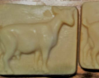 3 bars of GOAT MILK SOAP-Natural Cream Color Made this month