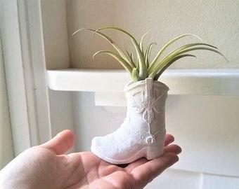 Cowboy boot planter, air plant holder, cowgirl gift, bridal party gifts