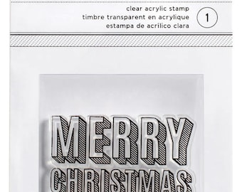 American Crafts Merry Christmas Acrylic Stamp