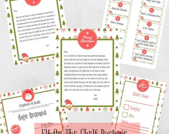 Instant Elf On The Shelf Welcome Letter, GoodBye Letter, Recovery Certificate, Advent Cards, Report Card Package