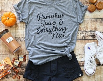 Fall Shirts| Fall Shirt| Shirts For Fall| Womens Tshirt| Womens Shirt| Pumpkin Spice Shirt| Fall T-shirt For Women| Pumpkin Shirt|Happy Fall