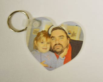 Photo Heart Keychain, Personalized Keychain, Heart Keychain, Photo Gifts, Custom Keychains, Bereavement Gifts, Grief Gifts, Sympathy Gifts