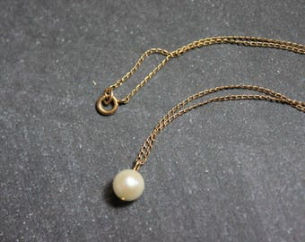 Delicate Pearl and Gold Necklace c1950s
