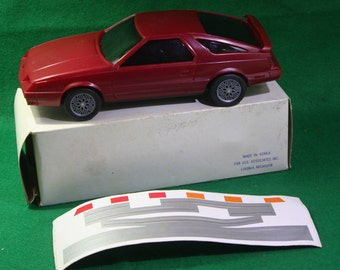 Vintage 1984 Dealership promotional  1/20 scale model Chrysler Laser XE  with original box and decals - First year