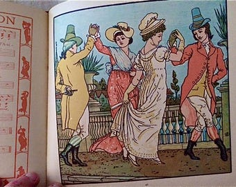 "Antique Children's Book - ""The Baby's Bouquet"" by Walter Crane"