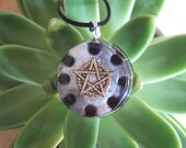 Orgone Pendant - Onyx - Pentagram - Root Chakra Healing Lightworker Jewellery - Positive Energy - Wicca and Pagan Jewelry - Medium