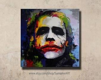 67 x 67 cm, Joker art, Joker paintings on canvas, Joker wall decor painting