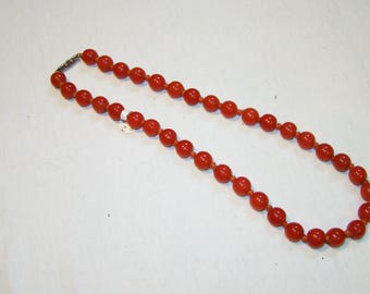 A-19 Peking glass Beaded Necklace