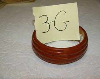 BB #3-G Carved Vintage Bakelite  Bracelet