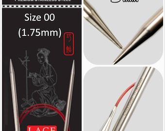 NEW US 00 (1.75mm) Chiaogoo Red Lace Circulars - Choice of Length