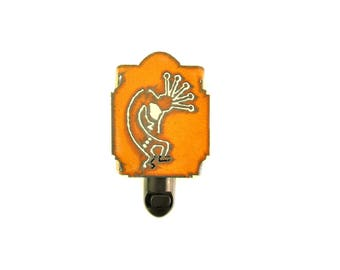 Kokopelli Rusty Metal Night Light