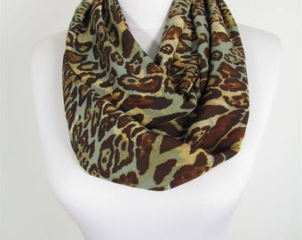 Leopard Scarf Infinity Scarf Brown Leopard Scarf Circle Scarf Gift For Her Winter Scarf Women Fashion Accessories 81