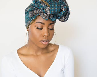 African head wrap blue, african head wraps, turbans for women, ankara headwrap, african headwraps, head wraps for women, african head scarf