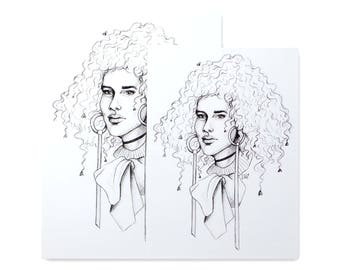 Heartfro / Art Print / Fashion Illustration / Pencil Drawing