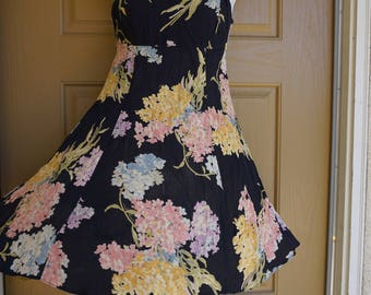 Vintage Betsey Johnson size small floral short dress 80s 90s 1980s 1990s