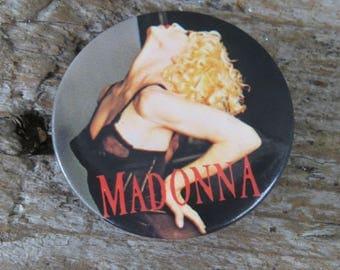 "Vintage Madonna Button- Blonde Ambition 1990 Pin 1 1/2"" button"