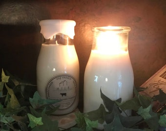 Soy Candles in Milk Bottles