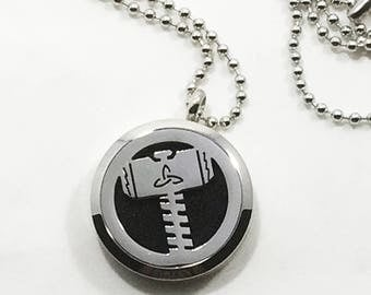 Superhero Necklace - Stainless Steel - Diffuser Necklace - Men