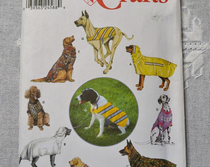 Vintage Simplicity 9520 Sewing Pattern Dog Clothing One Size Crafts  DIY Sewing Crafts PanchosPorch