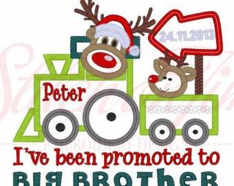 SAMPLE SALE, Big brother Christmas  Shirt, boys christmas shirt, reindeer boys chirstmas shirt Promted to big brother Christmas shirt