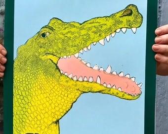 Louisiana Alligator Screen Print
