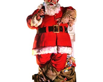 Coca-Cola Santa with Toy Bag Wall Decal # 158507