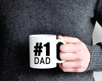 Number 1 Dad Coffee Mug - Number One dad Coffee Mug - dad gift - husband gift -  fathers day gift
