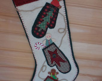 Three Little Mittens Stocking