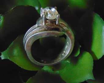 Sterling Silver and Cubic Zirconia Ring....size 5 only