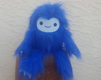 Blue Yeti Plush - Abominable Snowman - Stuffed Monster - Kawaii Yeti - Ready to Ship!