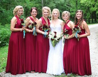 THEDAINTYARD TDY Bridesmaid Maxi infinity dress / Multiway Dress / Long convertible wrap dress (Regular size)