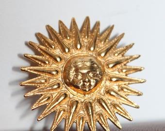 Sun Pendant-Brooch