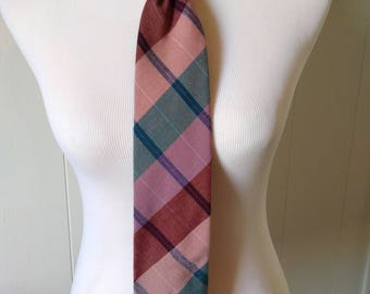 Snazzy Private Club tie in pastel plaid