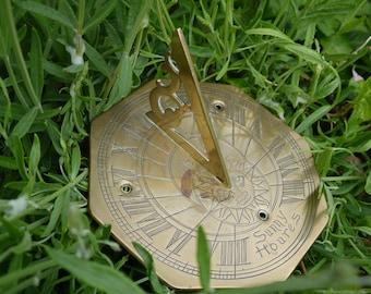 Vintage Brass Sun Dial