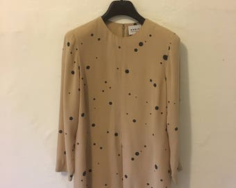 SALE vintage Akris silk dotted tunic