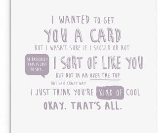 I wanted to get you a Valentine's Day card... Funny Rude Valentine's Day Card. Boyfriend. Girlfriend. Husband. Wife.