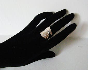Vintage Silver Spoon Ring by 1847 Rogers Bros, Marked IS, Size 6.5 to 7