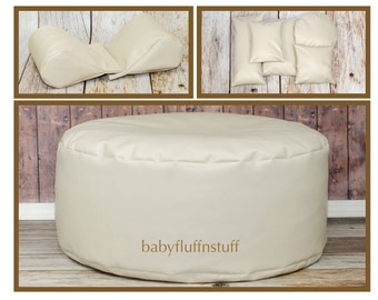 COMBO SAVINGS**Marine Travel Bean Bag Poser, Set of Wedge Poser Pillows and Five Pack of Posing Pillows