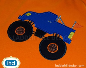 Monster Truck ApplIque Embroidery -- Truck Embroidery Applique -- Appliques for Boys Embroidery Design TR007