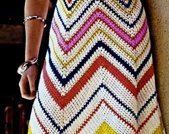 Chevron Crochet Dress Vintage Crochet Pattern Download